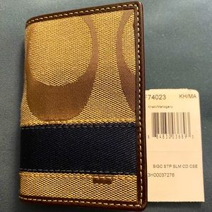 Coach card holder for unisex (minor flaws)